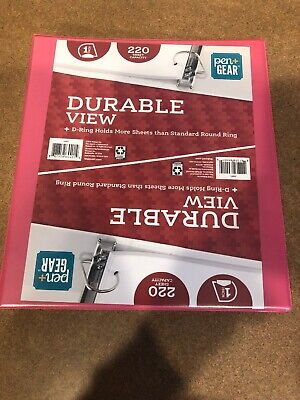 Lot Of 2 Pen Gear Durable View 1 3 Ring Binder Pink 220 Sheet Capacity