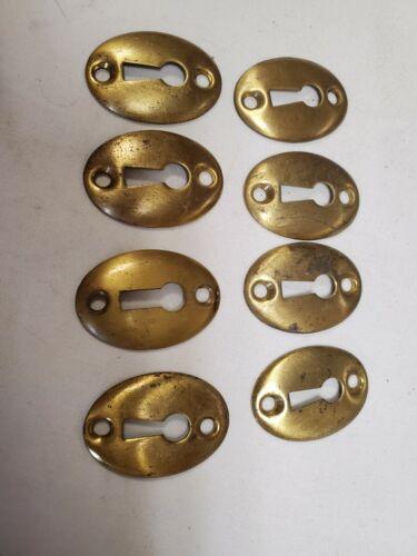 8 Vtg Brass Keyhole Covers