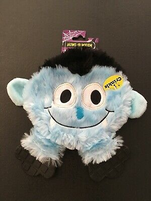 Halloween Dog Toy | Blue Monster | Soft Plush | Crinkle