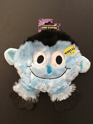Halloween Dog Toy | Blue Monster | Soft Plush | Squeak And Crinkle