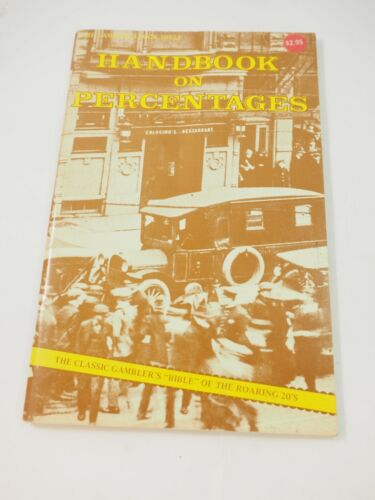 1976 Handbook on Percentages by Charles E.Shampaign Gamblers Book Shelf