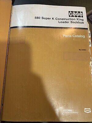 Case 580 Super K Construction King Loader Backhoe Parts Catalog Bur 8-6951