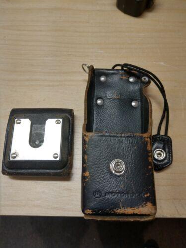 Motorola Radio Leather Carry Case Swivel Holster NTN7241A & Belt Clip 42D05760G0