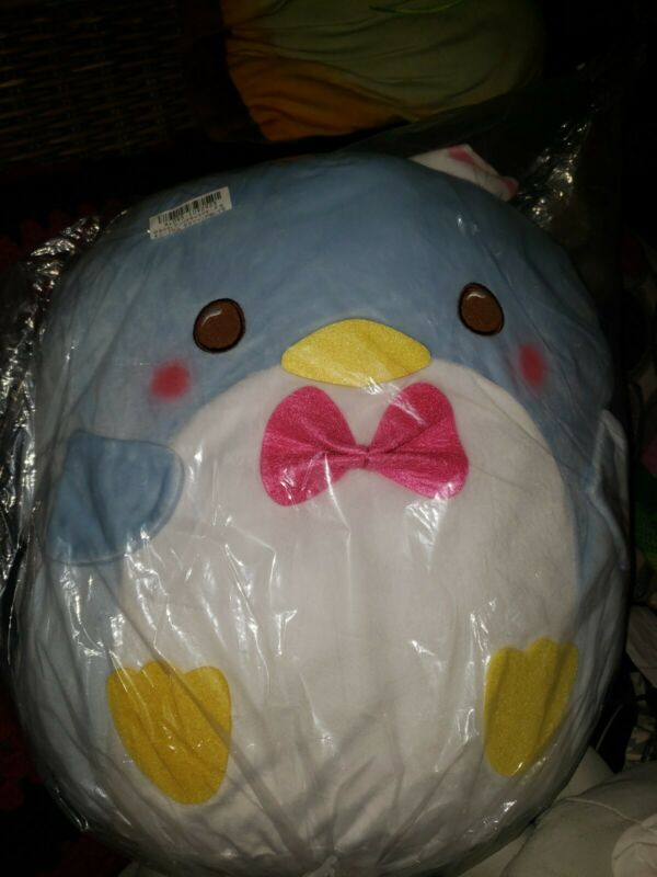JUMBO Tuxedo Sam Sanrio Character Fiesta Blue Velvet Soft Plush Penguin Japan