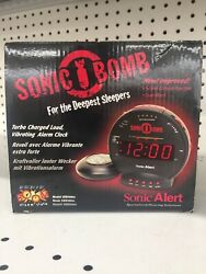NOB Sonic Boom SBB500ss Sonic Bomb Loud Plus Vibrating Alarm Clock  I1a