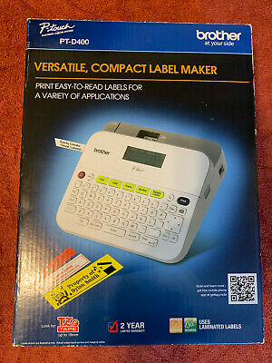 New Brother P-touch Pt-d400 Label Maker Versatile Compact