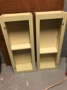 Two small kitchen cabinets