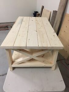 Farmhouse Style Coffee Table with matching end table
