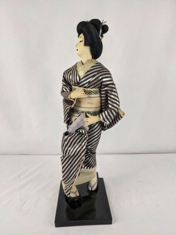"VINTAGE 14""  JAPANESE Doll figure Bijin Kimono Geisha Traditional Girl"