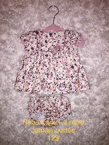 Vêtements bb fille NB-3-6 mois /Zara-Gap-Carters