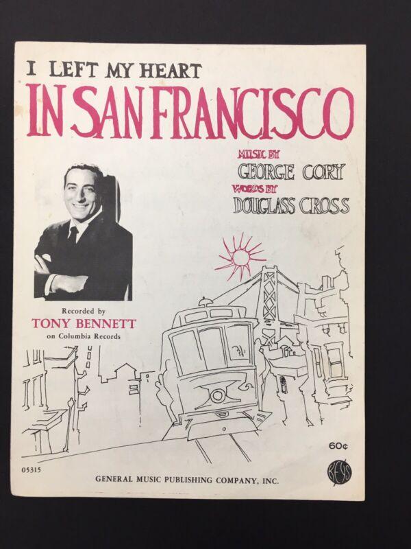 Tony Bennett Sheet Music 1962 I Left My Heart In San Francisco
