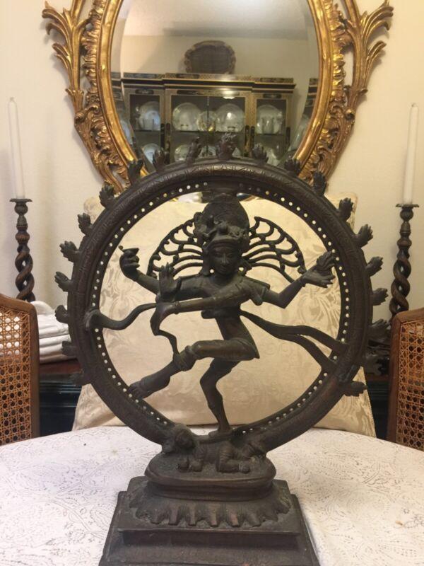 Antique Cast Bronze Dancing Shiva Natataja sculptture