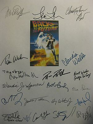 Back To The Future Signed Film Script X20 Michael J Fox Steven Spielberg reprint
