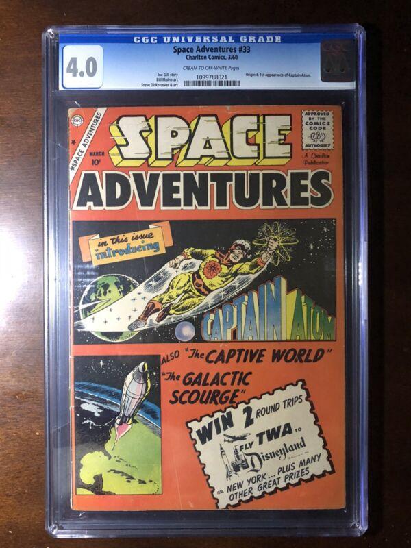 Space Adventures #33 (1960) - 1st Captain Atom! - CGC 4.0 - Key!
