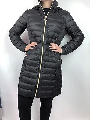 Womens Michael Kors Packable Down Puffer Jacket Bubble Coat 3/4 Length Black](michael kors packable puffer coat)