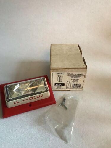 Edwards EST 202-3A-T Fire Alarm Strobe Light Stroboscope RED 24VDC w/Terminals