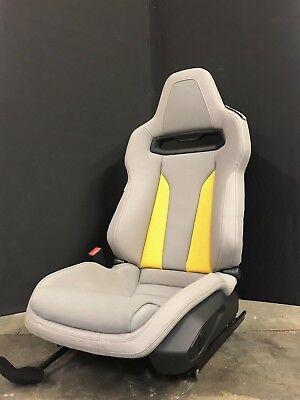 Sportsitz Audi R8 LMS Recaro grau gelb mit Sitzschienen, Airbag und Elektrik