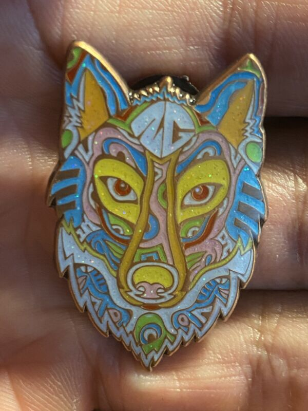 Twiddle Spirit Wolf Copper Candy Pin by Danny Steinman Pin Daddy LE x/75