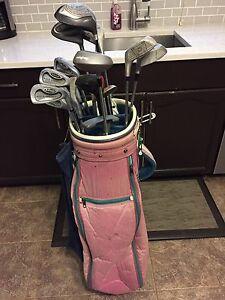Ladies' golf clubs and bag