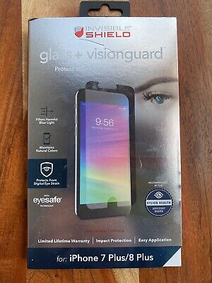 Zagg Invisible Shield Glass + VisionGuard iPhone 7 Plus/8 Plus Screen Protector