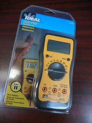 IDEAL 61-312 Test-Pro Contractor-Grade Digital Multimeter 3 Phase Rotation -