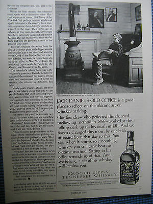 "1987 Jack Daniel/'s Reading Office Stove Original Print Ad-8.5 x 11/""1//2 page"