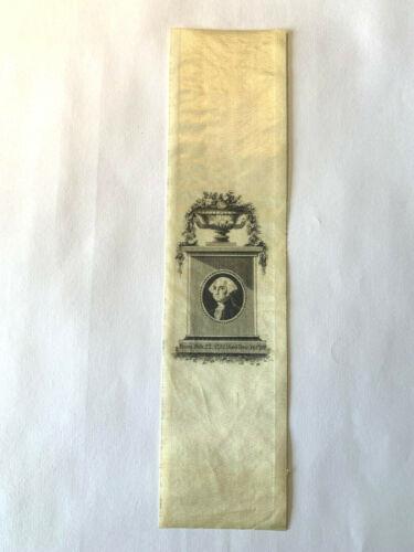 1832 George Washington Commemorative Silk Ribbon - 100 Yr Centennial of Birth