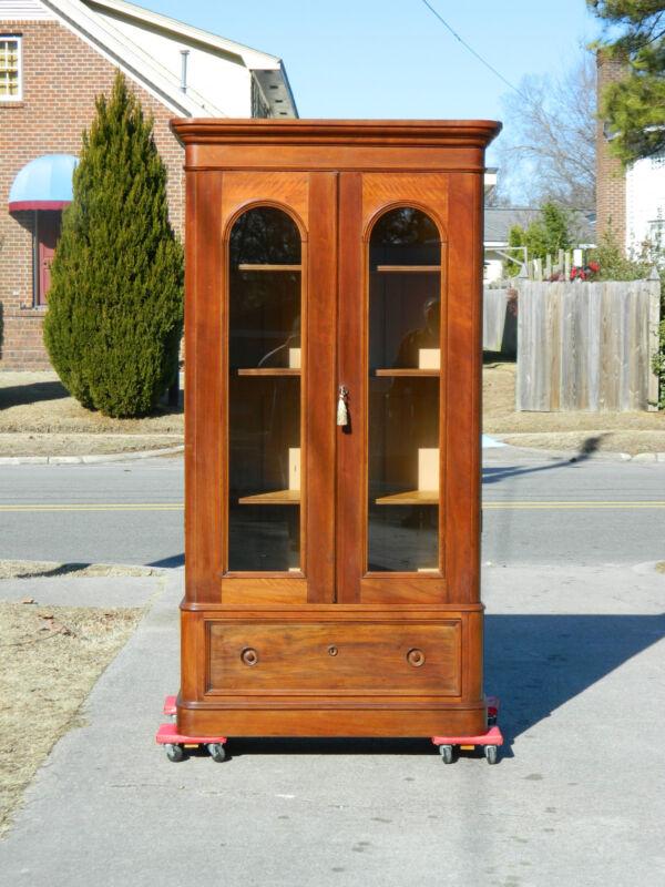 Fabulous Walnut Victorian Two Door Bookcase circa1875