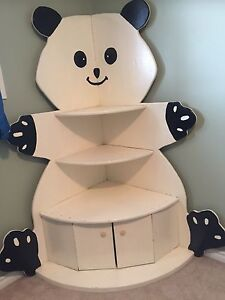 Custom solid wood panda corner unit