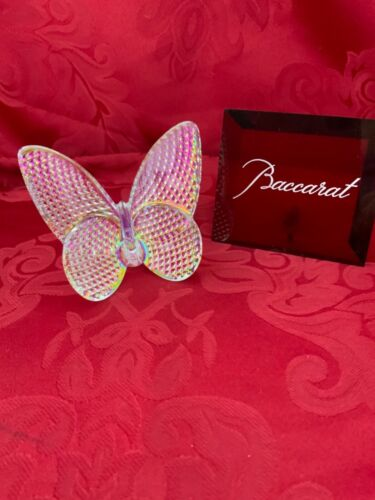 FLAWLESS Exquisite BACCARAT France Art Crystal DIAMOND Papillon LUCKY BUTTERFLY