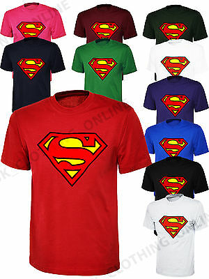 Superman Mens Unisex T-Shirt Top Classic Super Hero Comic Perfect Gift Tee Shirt