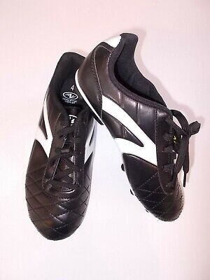 Athletic Works Youth Size 4 Black And White Soccer Cleats