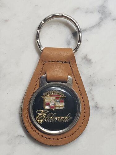 Vintage Leather Cadillac Eldorado Logo Keychain