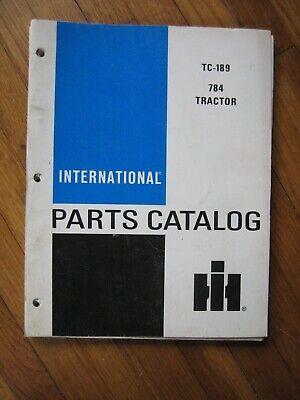 International Tractor Parts Catalog Original Tc-189