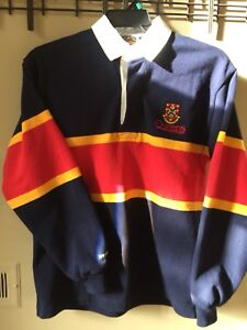 Queens Rugby Polo. Tricolour. Small EUC