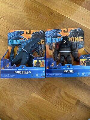 Godzilla VS Kong: Godzilla and Kong Action Figure Set Lot Playmates NEW