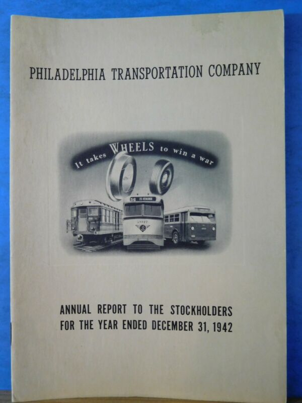 Philadelphia Transportation Company Annual Report 1942 ending December 31