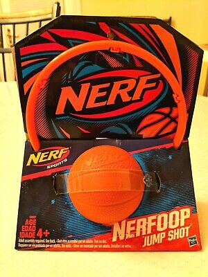Nerf Sports Nerfoop Set Toy Orange Complete Basketball System Resilient Fun Play