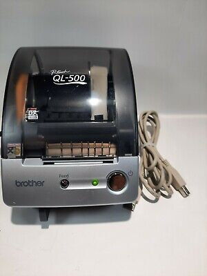 Brother Ql-500 Label Thermal Printer Label Reel Cords Used Works