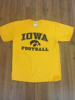 Iowa Hawkeyes Football NCAA SUPER AWESOME Size Large Yellow T Shirt!
