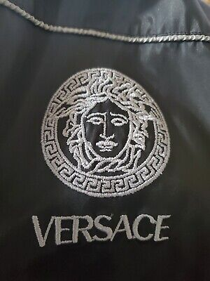 VERSACE CLASSIC V2 BLACK  FULL ZIP LIGHT WEIGHT JACKET VINTAGE SIZE XL