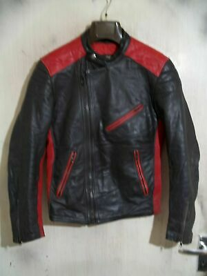 Vintage 70'S SEGURA Leather Motorcycle Jacket Size S