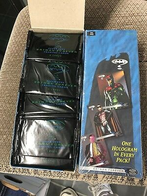 2 BOX LOT BATMAN CARDS 1995 FLEER 100 PACKS & ULTRA 24 RACK PACKS HOLOGRAMS