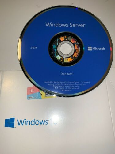 Microsoft Windows Server 2019 Standard,16 core 64 BIT DVD & PRODUCT KEY STICKER
