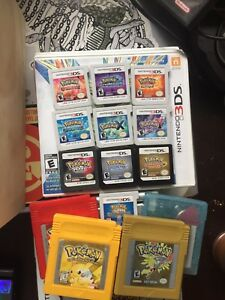 Pokémon games for individual sale.