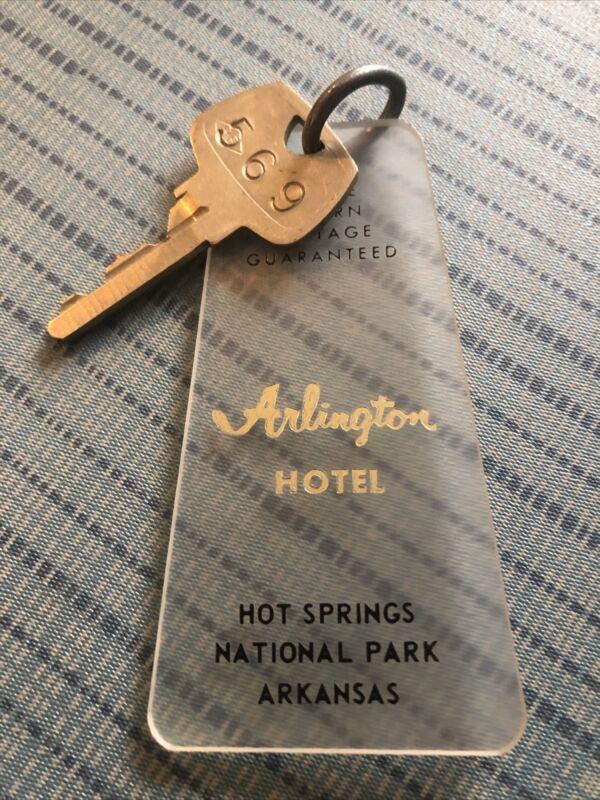 Vintage ARLINGTON HOTEL Room Key Fob HOT SPRINGS ARKANSAS