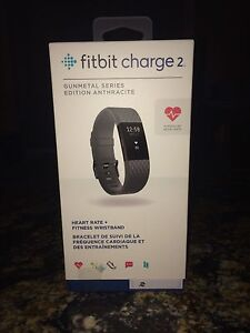 Fitbit charge 2 Gun Metal special edition new and sealed