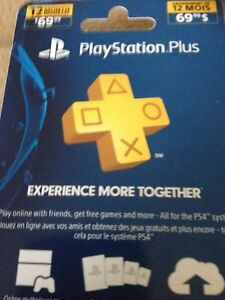 Playstation Plus card - New