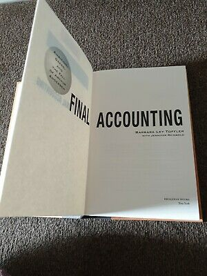 Final Accounting by Barbara Toffler Hardback  for sale  Shipping to South Africa