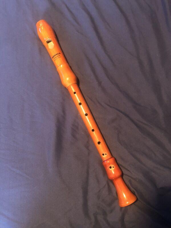 Hohner Concert Recorder Flute F Alt Alto Konzert Germany 3 Pieces 9574
